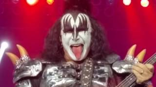 Kiss Mohegan Sun 10/29/16 Front Row Detroit Rock City, Duece