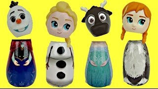 Essie Plays with Frozen Bath Containers with Queen Elsa, Anna, Olaf