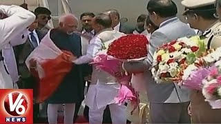 Vice President Mohammad Hamid Ansari Arrives In Hyderabad..