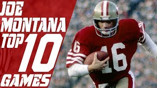 Top 10 Joe Montana Games of All Time | NFL Films
