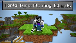 Can You Beat Minecraft in a FLOATING ISLANDS ONLY World?