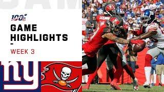 Giants vs. Buccaneers Week 3 Highlights   NFL 2019