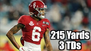 215 YARDS + 3 TDs 🔥🔥🔥 || DeVonta Smith With INCREDIBLE 1st Half ᴴᴰ