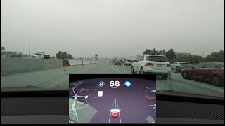 Tesla Navigate on Autopilot in Bad Weather and Ghost Braking