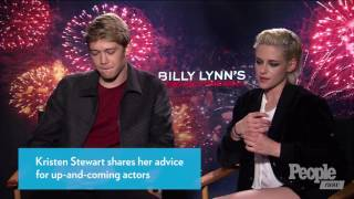 Kristen Stewart Gives Advice to Co Star - Joe Alwyn
