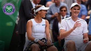 Jamie Murray/Martina Hingis v Ken Skupski/Jocelyn Rae highlights - Wimbledon 2017 quarter-final