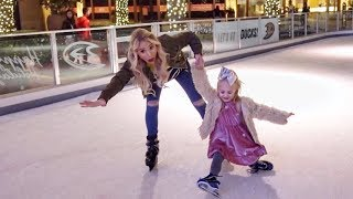 SAVANNAH AND EVERLEIGH ICE SKATING FAIL!!!