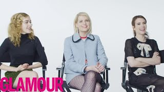 Emma Roberts Plays 'Who Knows You Best?' with Kiernan Shipka & Lucy Boynton | Glamour