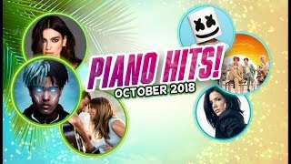 Piano Hits ♫ Pop Songs October 2018 : 1 hr of hits, music for classroom ,study pop instrumental