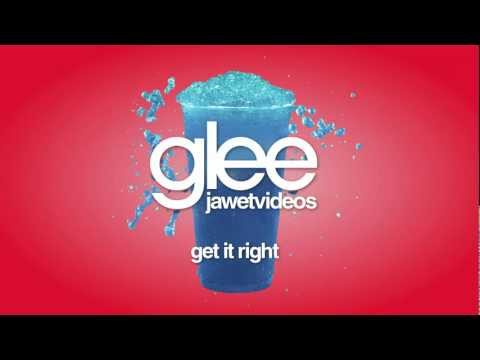 Glee Cast - Get It Right (karaoke version)