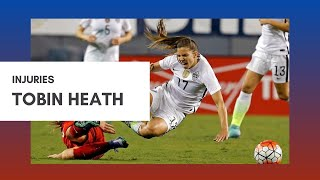 Tobin Heath ALL Injuries (and Red Card)