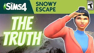 TRUTH ABOUT SNOWY ESCAPE- SIMS 4 NEWS/ INTERVIEW 2020