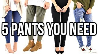 5 BEST Pant Styles EVERY Woman Should Own!