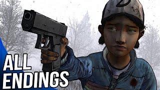 All Endings In The Walking Dead Game Season 2 Episode 5 - All Endings