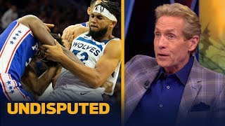 Skip Bayless reacts to Joel Embiid brawling with Karl-Anthony Towns last night | NBA | UNDISPUTED
