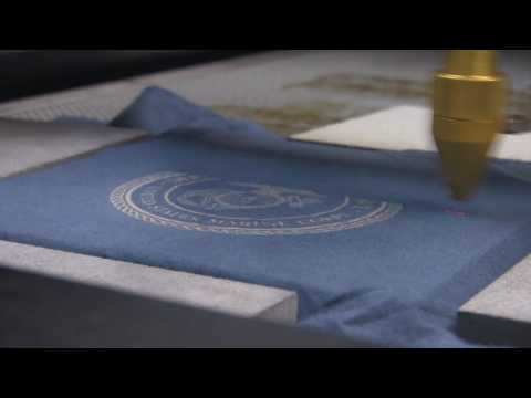 AP Lazer: Watch us Engrave Fabric