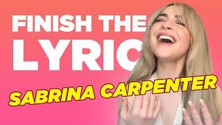 Sabrina Carpenter Covers Miley Cyrus, Selena Gomez & More | Finish The Lyric | Capital
