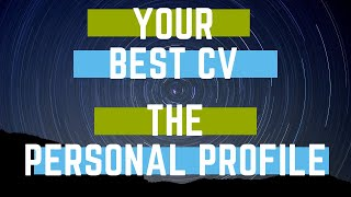 cv personal statement first or third person