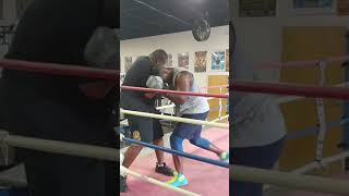 Heavyweight contender Greg Corbin Working with Undisputed heavyweight champion Riddick Bowe