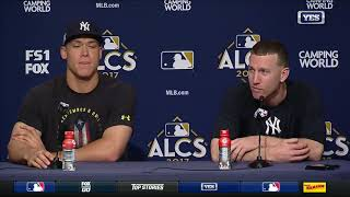Aaron Judge and Todd Frazier on Yankees ALCS Game 3 win