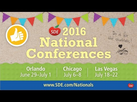 SDE 2016 National Conferences: Are You In?