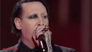 Marilyn Manson on italian tv show with Sweet dreams (Are made of this)