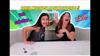 DESAFIO DA ROLETA MISTERIOSA DE SLIME SABOTADO ! ( mystery wheel of slime challenge )- Julia Moraes