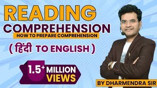 Reading Comprehension Part 1 English To Hindi (How To Prepare Comprehension)