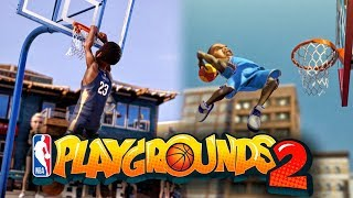 MY VOICE IS IN NBA PLAYGROUNDS 2 OFFICIAL GAMEPLAY TRAILER! SEASON MODE, 4 PLAYER ONLINE MATCHES ETC