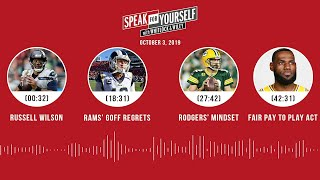 SPEAK FOR YOURSELF Audio Podcast (10.3.19) with Marcellus Wiley, Jason Whitlock   SPEAK FOR YOURSELF