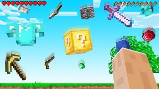 Minecraft BUT LOOT Is FALLING FROM THE SKY! (awesome)