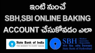 How to Create SBI,SBH, Internet Banking Account Online Telugu