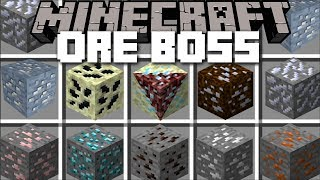 Minecraft ORE BOSS MOD / FIGHT AND SURVIVE AGAINST ORE BOSSES !! Minecraft