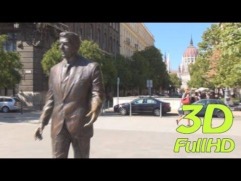 [3DHD] Walking Tour/Gyalogtúra: Liberty Square / Szabadság tér, Budapest, Hungary / Magyarország