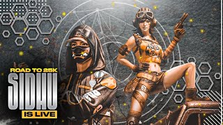 ROYAL PASS GIVEAWAY ON 25.5K | PUBG MOBILE LIVE CONQUEROR PLAYERS | LIVE RANK PUSH  | CLAWSIDHUYT
