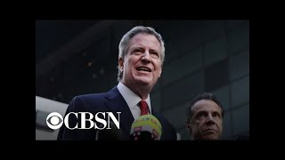New York City Mayor Bill de Blasio announces 2020 run
