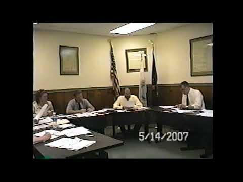 Champlain Village Board Meeting  5-14-07