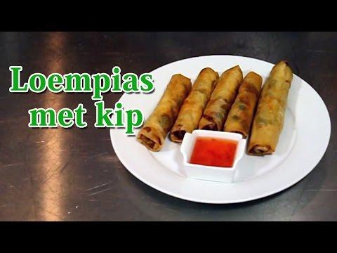 Recept Loempias met kip - Koken met Mo Academy