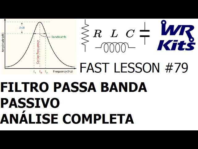 ANÁLISE DE FILTRO PASSA BANDA RLC PARALELO | Fast Lesson #79