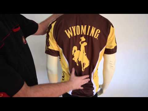 Wyoming Cowboys Cycling Jersey by Adrenaline Promotions