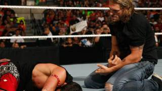 Raw: Randy Orton interrupts Edge's attack on Evan Bourne