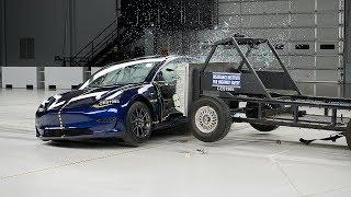 2019 Tesla Model 3 side IIHS crash test