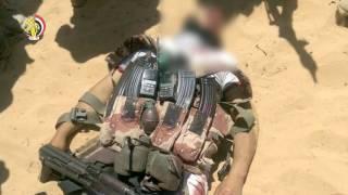المتحدث العسكرى يعرض فيديو لضربات الجيش ضد الإرهاب فى سيناء
