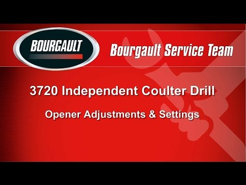 Bourgault 3720 Independent Coulter Drill - Opener Adjustments