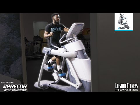 video Precor AMT 835 Commercial Series Adaptive Motion Trainer with Open Stride Technology