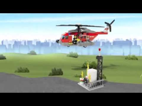 Funskool Lego City Fire Helicopter