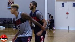 Jayson Tatum VS Kyle Kuzma 1 On 1 Game In Australia. USA Basketball 2019 HoopJab NBA