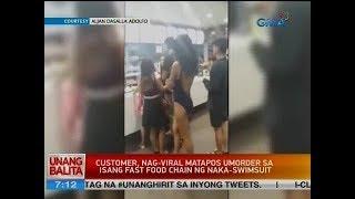 UB: Customer, nag-viral matapos umorder sa isang fast food chain ng naka-swimsuit