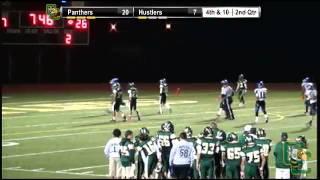Heritage High #11 Clinton Moxam throw 30 yard TD pass