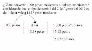 Convertidor De Pesos Mexicanos A Dolares